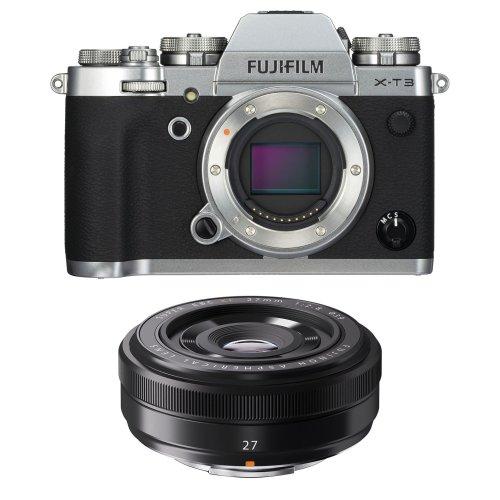 FUJI X-T3 Silver + XF 27MM F2.8 Black