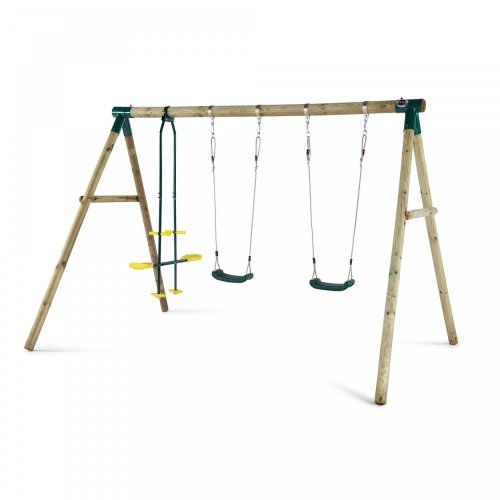 Plum Colobus Wooden Swing Set