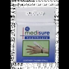 Extra Large Medisure Leather Thumb Stall -  medisure soft leather thumb stall choose your size