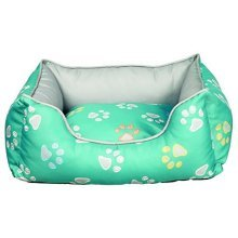 Trixie Jimmy Dog Bed, 75 x 65 Cm, Turquoise/grey - Bed Rectangular -  trixie dog bed jimmy rectangular turquoisegrey various sizes new