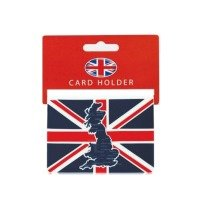 Credit Card Travel Pass Oyster Ticket Holder Great Britain Map Union Jack Flag