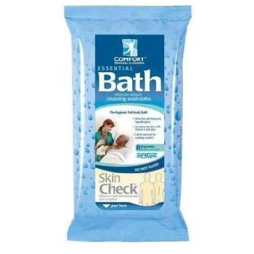 Essential Comfort Bath Cleansing Washcloths - Each (1 Package)