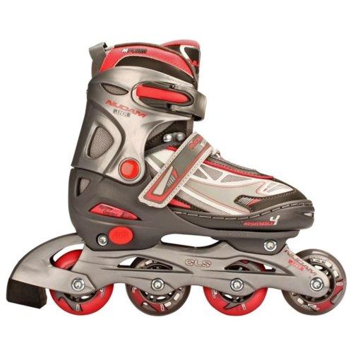 Nijdam Junior Inline Skates 30-33 Anthracite/Silver/Fuchsia 52SR