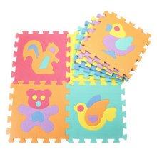 Colorful Waterproof Baby Foam Playmat Set-9pc, Animals