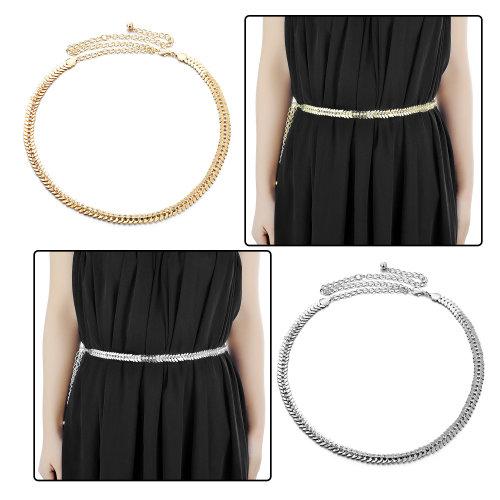 Waist Chain Belt, Charm Waistband Studded with Rhinestone Diamantes and Fastener Hook Clasp
