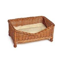 Medium Luxury Pet Basket and Cushion