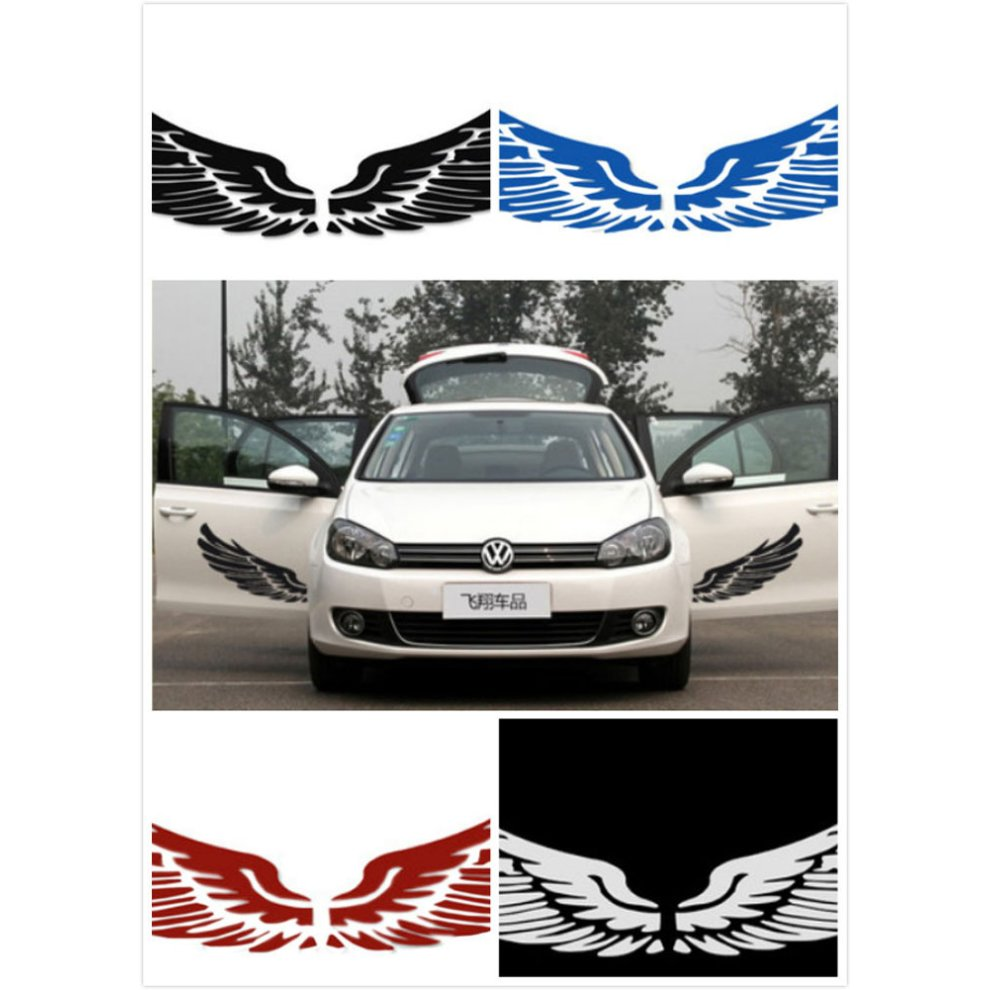 Set of 2 wings family car stickers unique design car sticker black 1