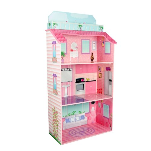 Teamson Kids TD-11919A Wooden Folding Glamour Mansion Dolls House, Large