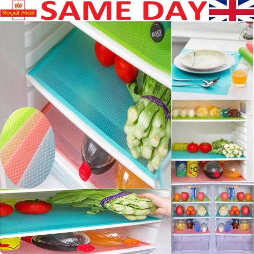 1,4x Refrigerator Fridge Mat Pad Drawer Liners Washable