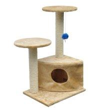 Cat Play Tree 70 cm Beige Plush