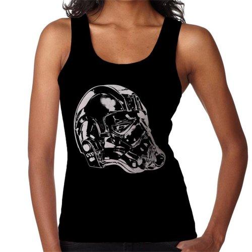 Original Stormtrooper Imperial TIE Pilot Helmet Side Shot Women's Vest