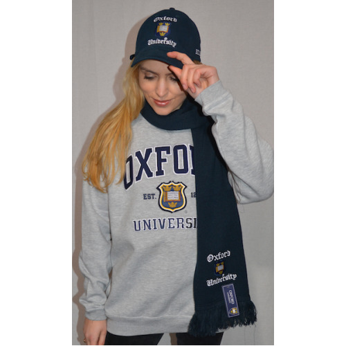 Licensed Oxford University Scarf Navy