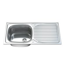 Dihl 1003 1.0 Single Bowl Stainless Steel Kitchen Sink, Drainer & Waste