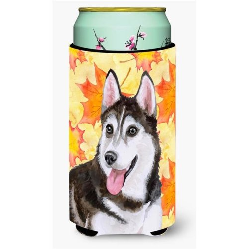 Carolines Treasures BB9973TBC Siberian Husky No. 2 Fall Tall Boy Beverage Insulator Hugger