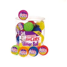 Classic Glitter Balls 40mm (Pack of 24)