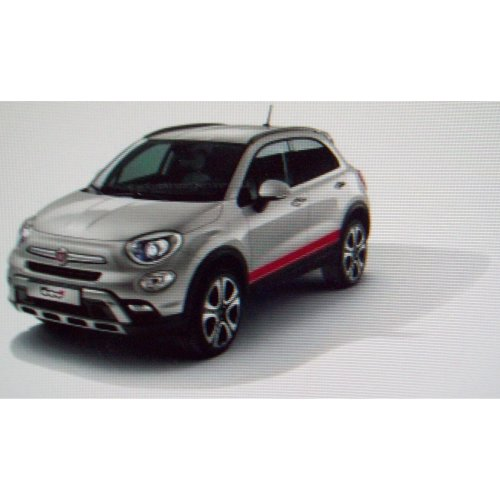 Fiat 500x Lower Side Red Decal Stripe Kit 50927504