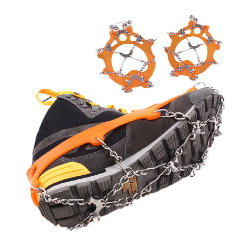 8 Spikes Winter Pro Traction Cleats for Snow and Ice Anti-Slip Shoe Grips Pair