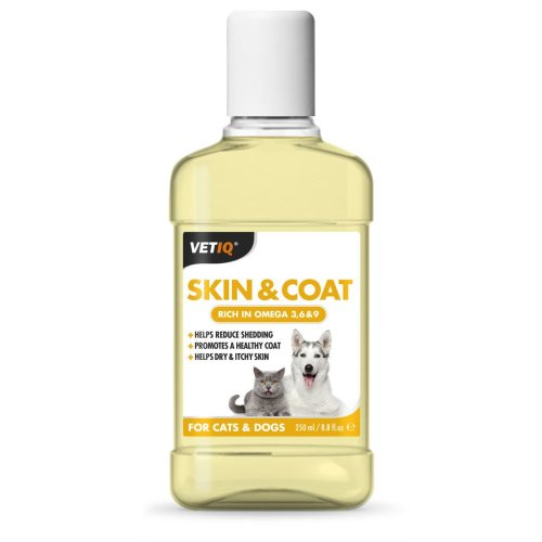 VetIQ Skin & Coat Liquid 250ml Dog & Cat