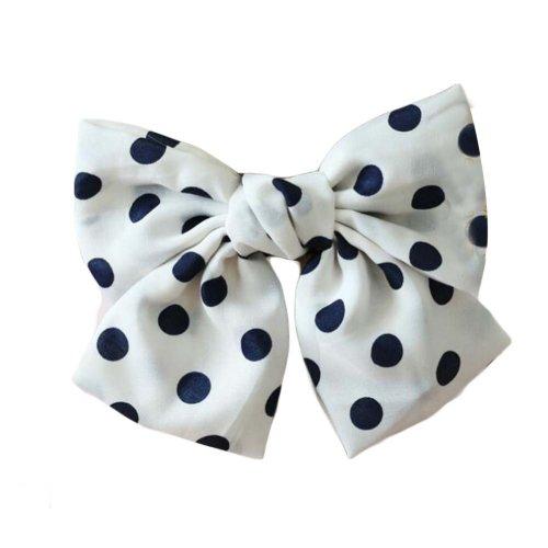 French Barrette Type, Chiffon Bowknot Hair Clip Handmade Hair Barrette Hair Bow