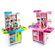 My Little Chef Kitchen Playset with Sounds, Touchscreen Panel and Water Features – More than 40 Accessories Included