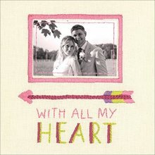 Dimensions Needlecrafts 71-01552 Dimensions All My Heart, Embroidery - Cathy -  cathy heck all my heart embroidery kit8x8 stitched thread
