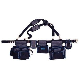 OX Pro Contractors Tool Belt Apron | Double Tool Pouch Belt