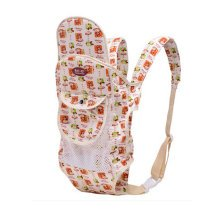Four Position Baby Carrier with Great Back Support With Net (Maize-yellow)