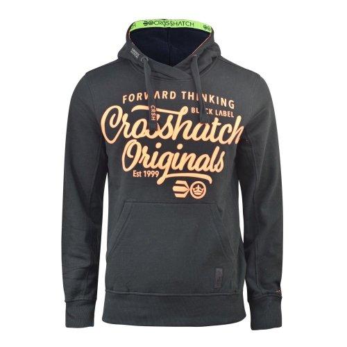 Mens crosshatch hoodie saturn top