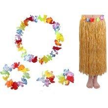 Hawaiian Hula Dancer Costume Dress Skirt Set for Adult