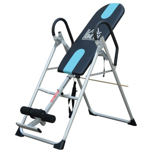 Homcom Foldable Therapy Inversion Table and Fitness Bench in Black