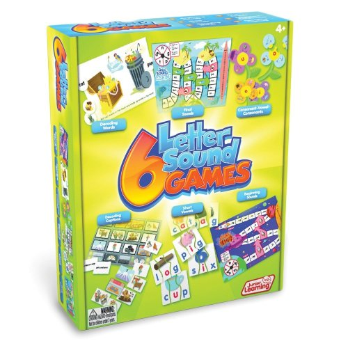 Junior Learning 6 Letter Sound Games Different Games (Set of 6)