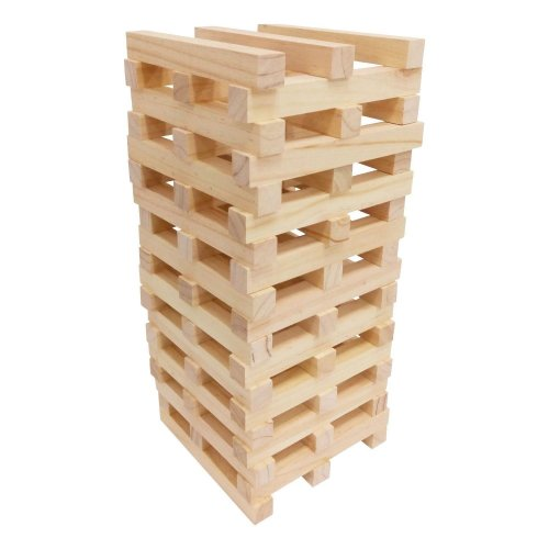 Parkland Giant 60 Piece Wooden Tumbling Tower Blocks Garden Game Outdoor Family Toy