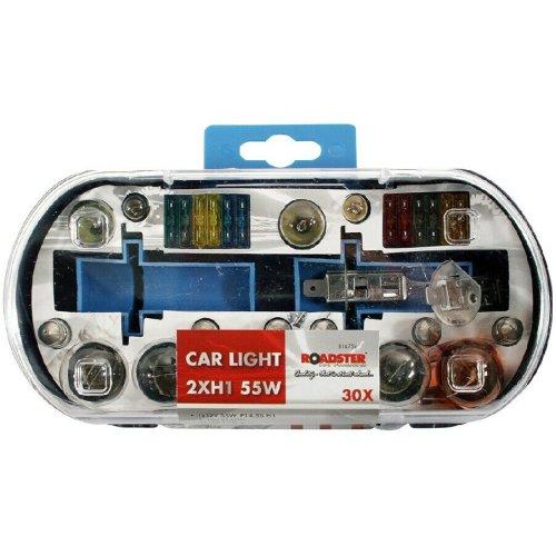 H1 Replacement Light Bulbs and Fuse Set 30 Piece Kit Van Car Motor Bike