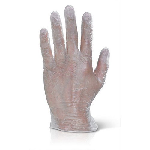 Click VDGS Vinyl Disposable Gloves Clear Small Box of 1000
