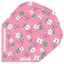 Pack Of 3 Sets Of Harrow Diva Dart Flights - Harrows 100 Micron Thick Choose -  dart flights harrows diva 100 micron thick choose from 12 designs sets