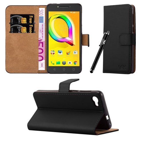 For Alcatel A5 LED Leather Folio Wallet Case Cover