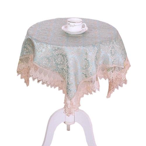 39*39 Inch Multi-Purpose Square/ Round Table Cloth Cover Tea Table Cloth, I