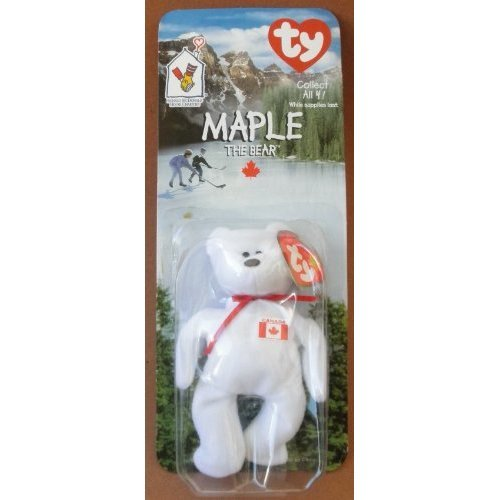 fbecc9e1adf 1 X TY Beanie Babies Maple the Bear Plush Toy Stuffed Animal McDonalds  Collectible - White with Canadian Flag on Chest on OnBuy