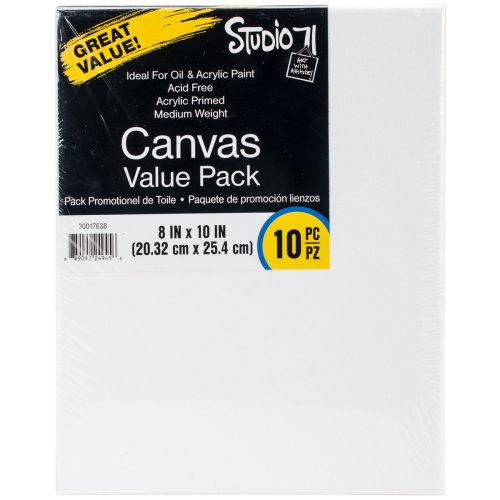 "Studio 71 Stretched Canvas Value Pack 10/Pkg-8""X10"""