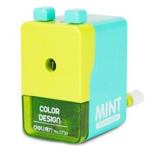 Creative Manual Pencil Sharpener Double Button Students Pencil Sharpener, Green