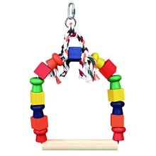 Swing Arc Coloured Studs Wood, 20x 29cm - Trixie Colourful Arch Bird Wooden -  swing trixie colourful arch bird wooden toy sizes cage 2 blocks