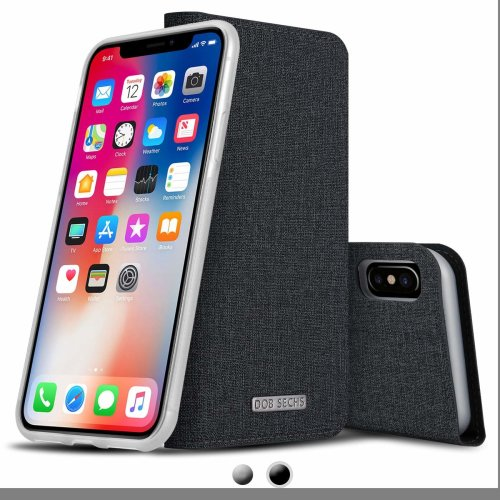 quality design 987a4 8564b iPhone X Case, iPhone 10 Case, Detachable Leather Wallet Case with Nano  Glass Screen Protector, RFID Blocking Function, Support Wireless Charging...