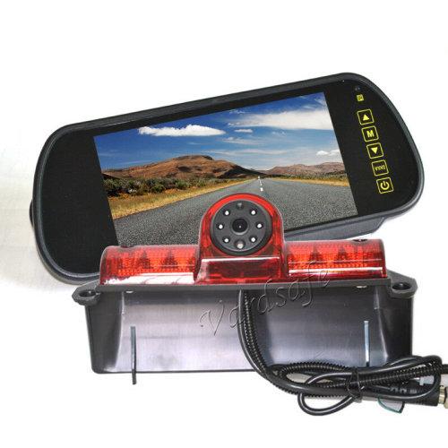 Vardsafe Brake Light Rear View Reverse Backup Camera Kit 7inch Mirror Monitor for Chevrolet Express