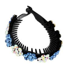 Ladies Elegant Rhinestones Hair Bun Decor Ponytail Clip Hair Accessories, No.11