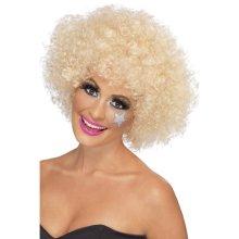 Smiffys 70s Funky Afro Wig - Blonde -  afro wig fancy dress blonde 70s funky 1970s unisex smiffys