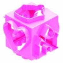 10cm Pink Cookie Cutter Cube