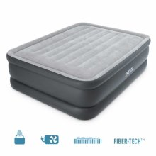 Intex 64140 Inflatable Double Mattress Increased Extra Height and Pump