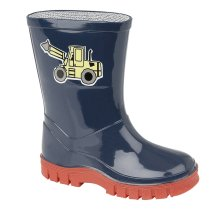 Stormwells Boys Puddle Wellies Blue