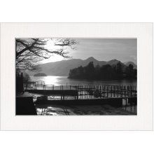 Jetty at Derwent Water Lake District Print in a Textured Card Picture Mount to put into your own frame