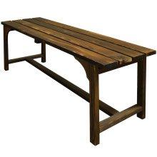 WALTON - Solid Wood Garden Bench - Burntwood